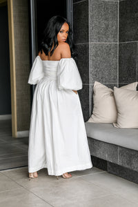Darling Romance Me | Puff Sleeve Jumpsuit