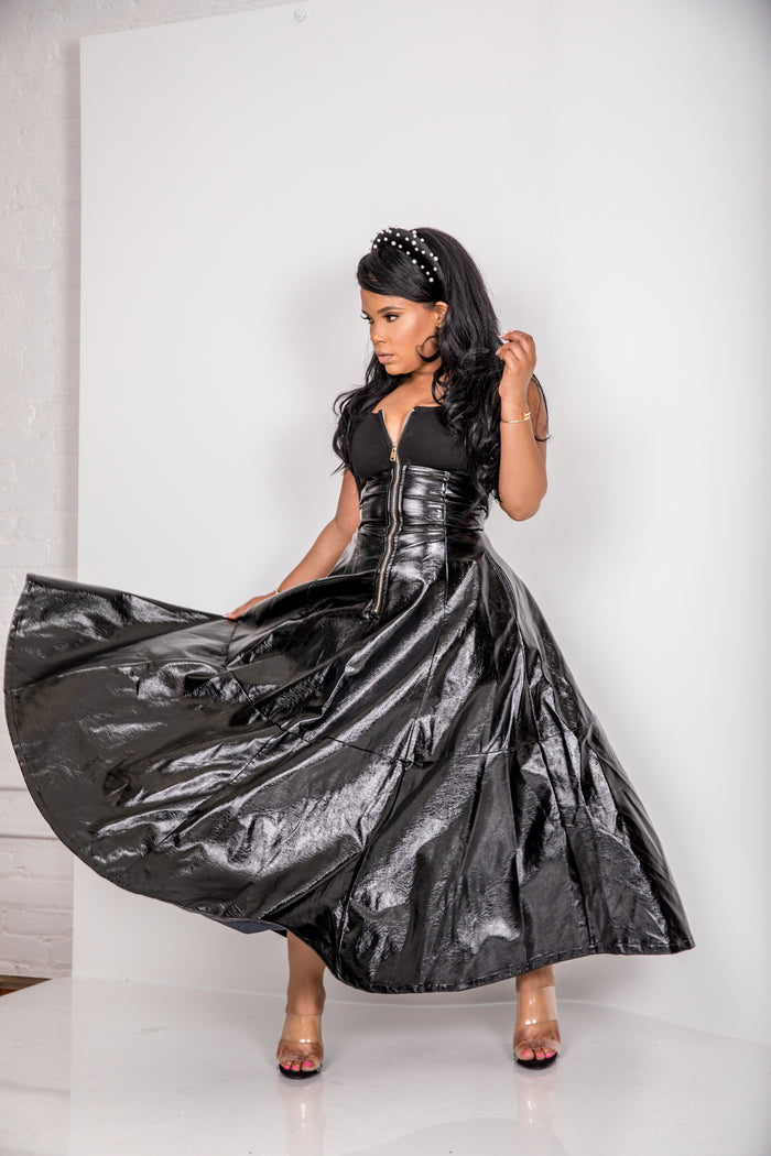 The Matrix | Faux Patent Leather Dress PRE ORDER SHIPS 12/15-12/26