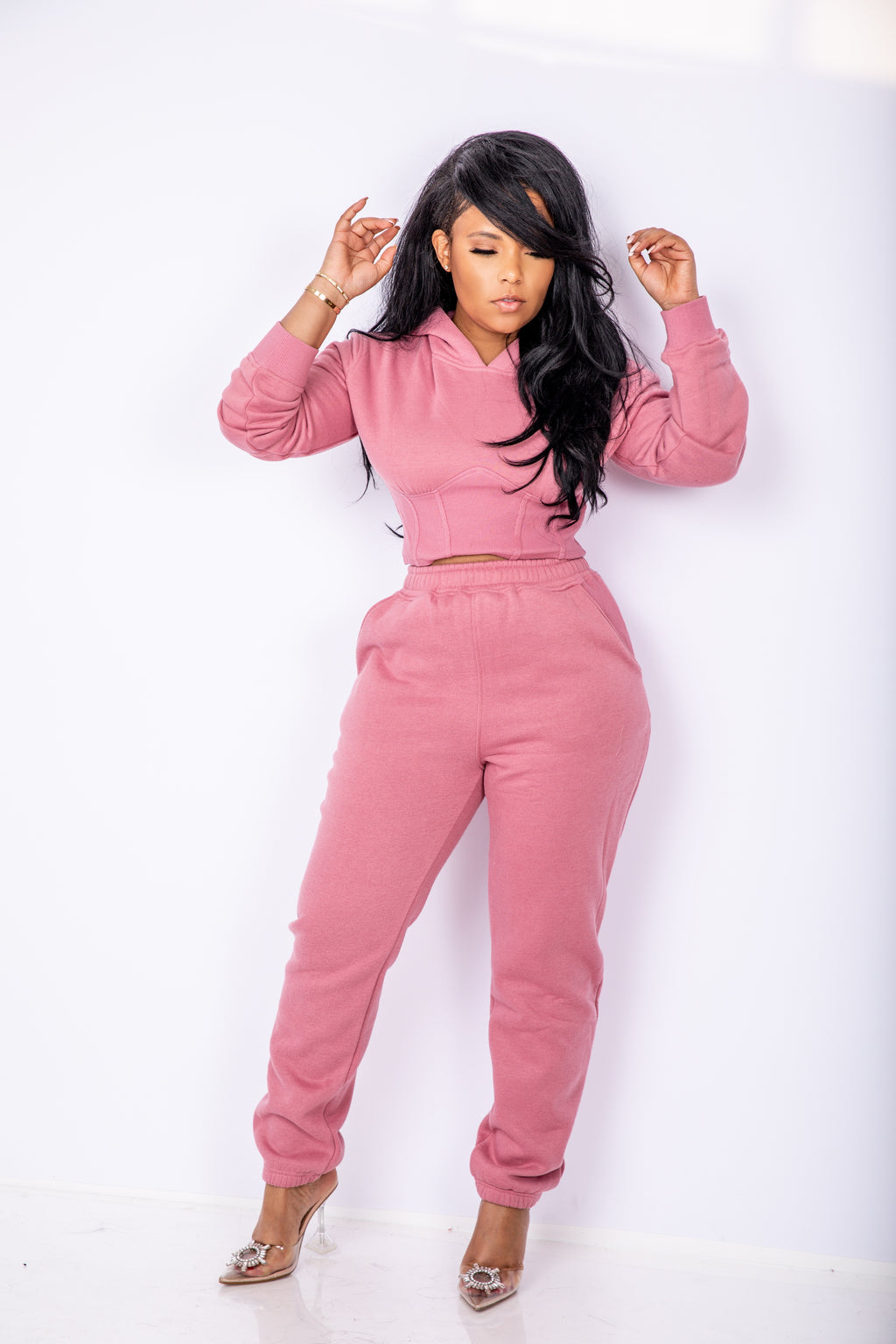 Sporty Spice | Crop Sweat Suit ESTIMATED SHIP DATE 5/15-6/5