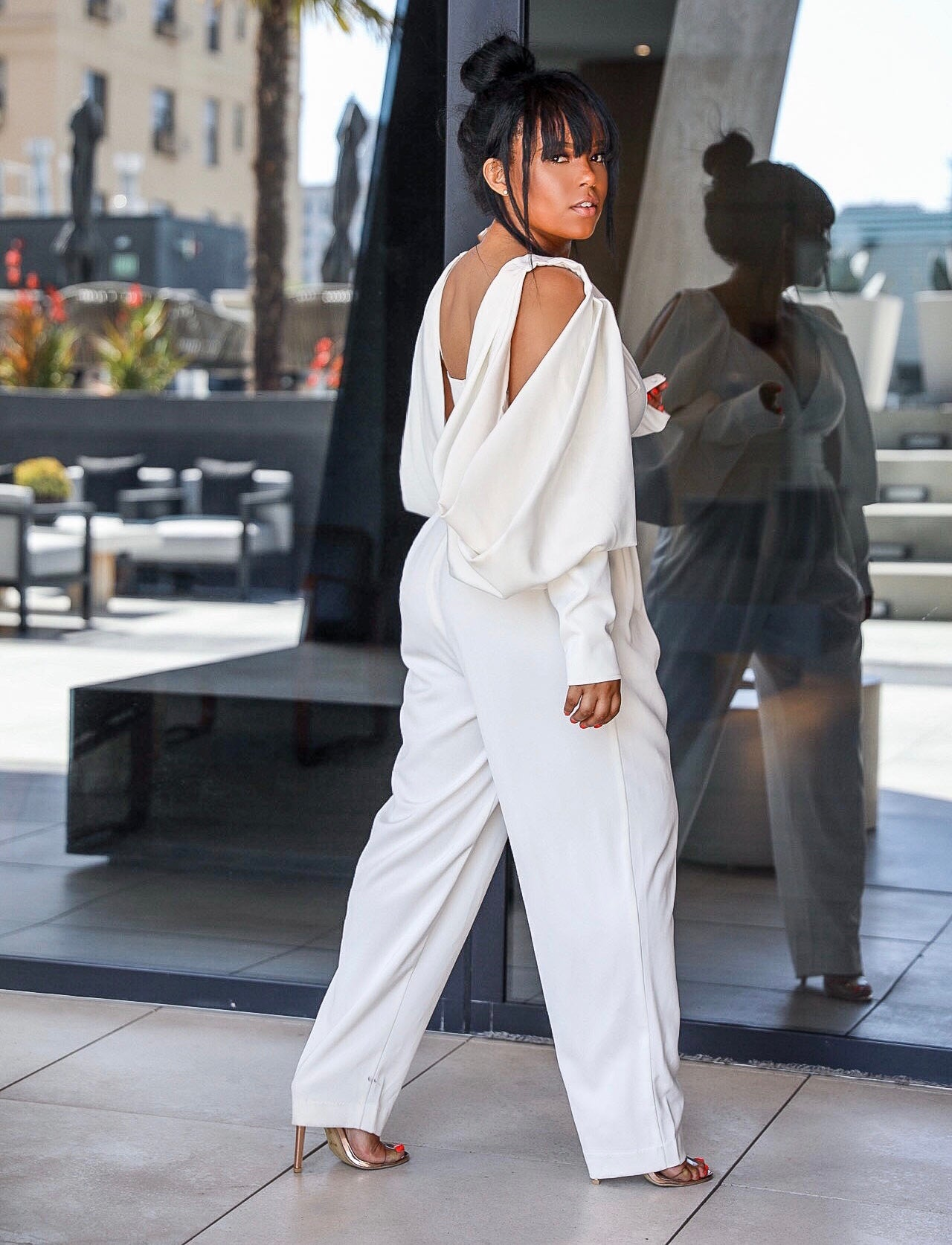Give Me Wings  | Puff Sleeve Jumpsuit PRE ORDER SHIPS BY 8/15