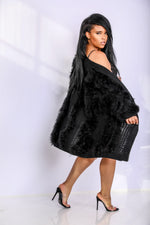 Always Fabulous | Ostrich  Feather Knit Cardigan
