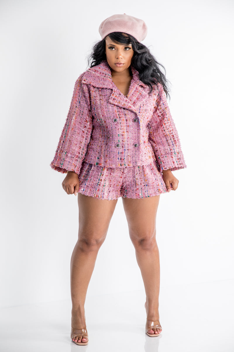 Such a Doll | Tweed Short Set
