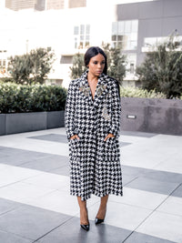 First Lady | Houndstooth Coat