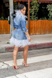 Ruffle Her Feathers | Denim Set