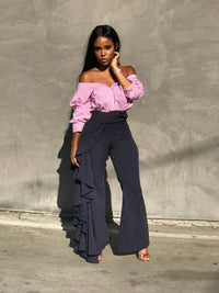 Offset | Off The Shoulder Button up  Blouse