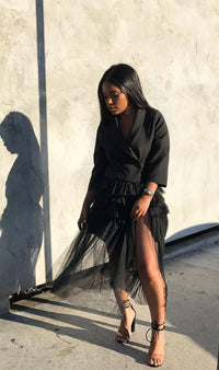 Blazin Thru| Tulle Blazer Dress