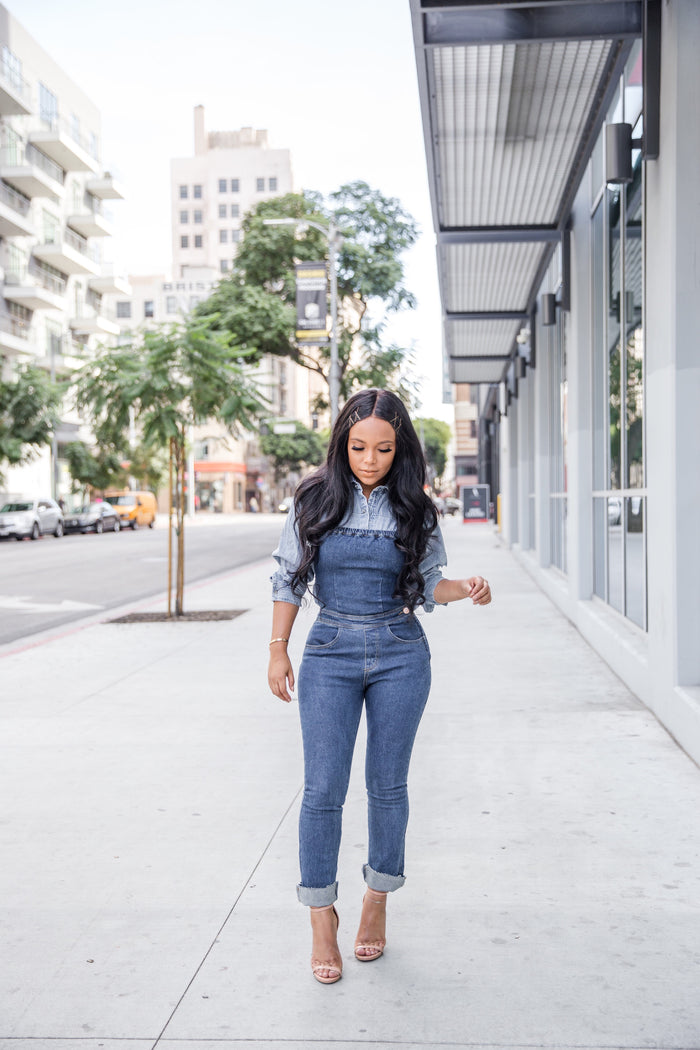 Over it All | Denim Overall Jumpsuit