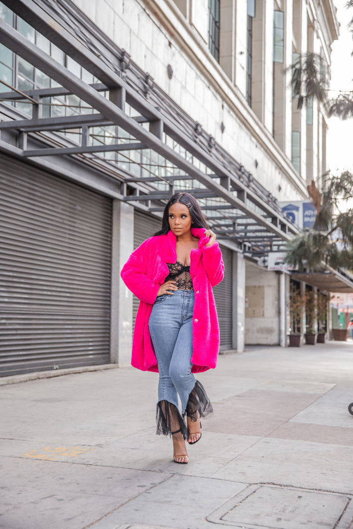Pop Off | Pink Fur Coat