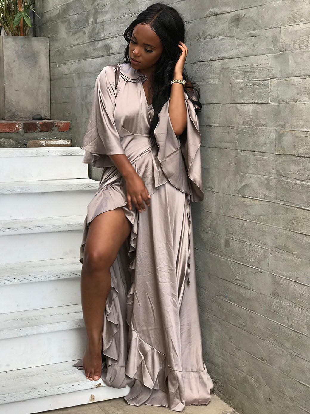 Silky Situation \Ruffle dress