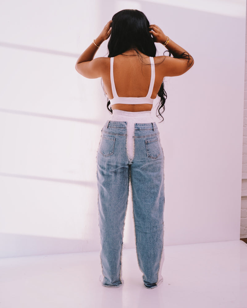 Boffum| Sweat Denim Pants
