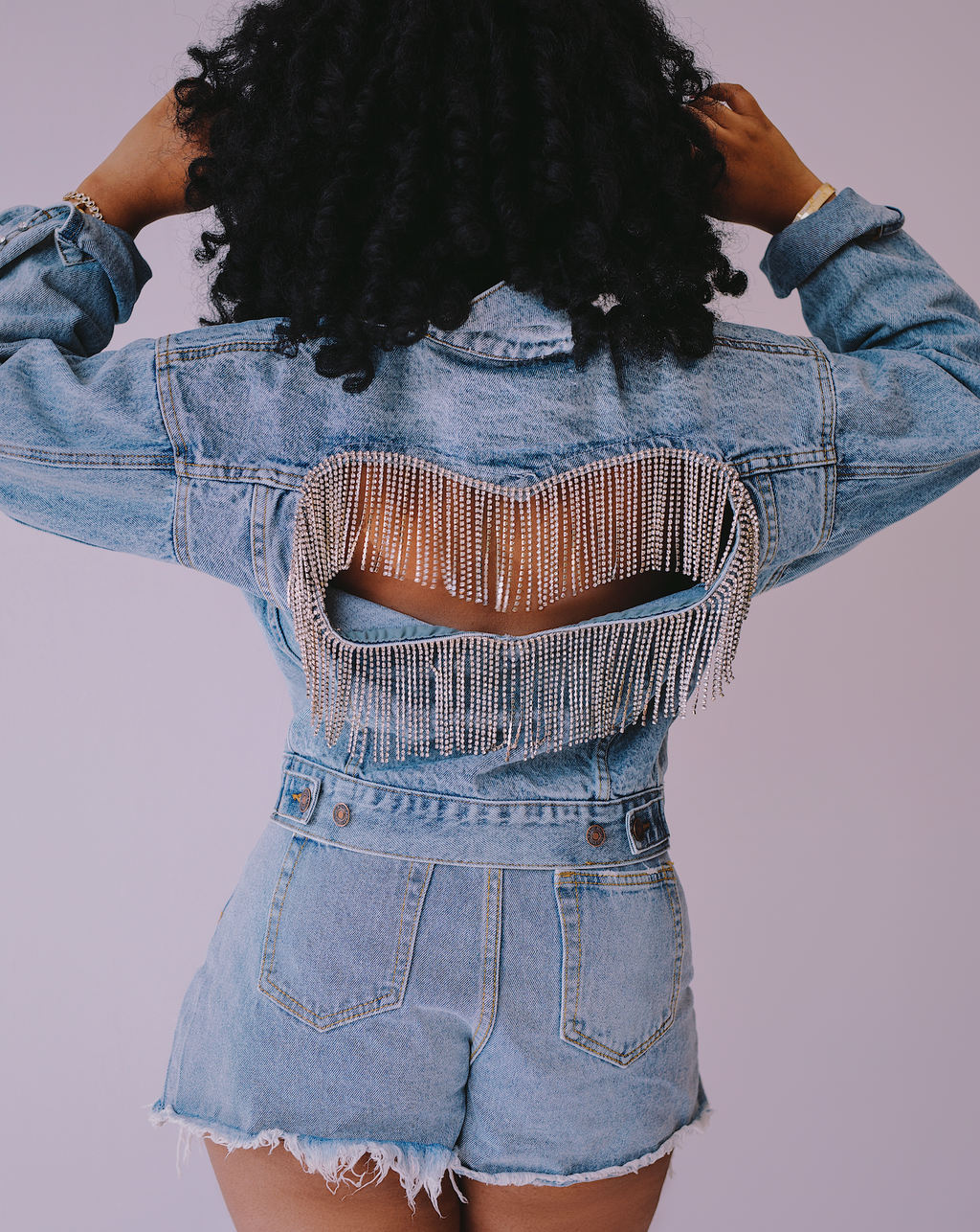 Have Some Heart | Denim Jacket Rhinestone Fringe SHIPS 7/20-7/30
