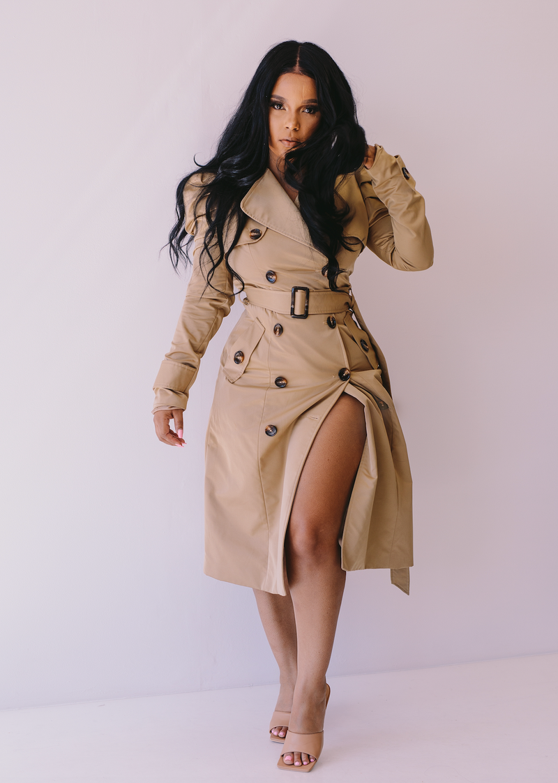 Undercover | Trench Coat Dress ESTIMATED SHIP DATES : (8/30 - 9/5)