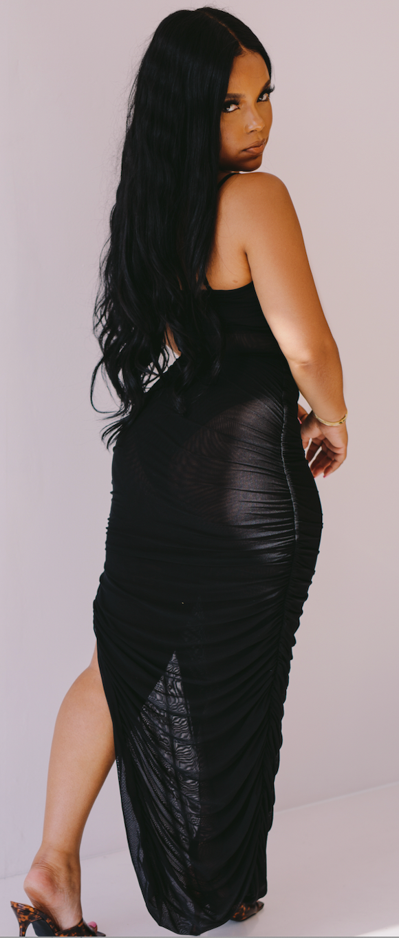 Skin Tight | Ruched Mesh Dress