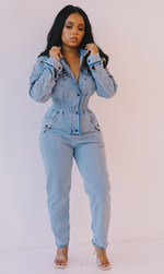 Times Up | Denim Jumpsuit ESTIMATED SHIP DATE 9/30-10/6