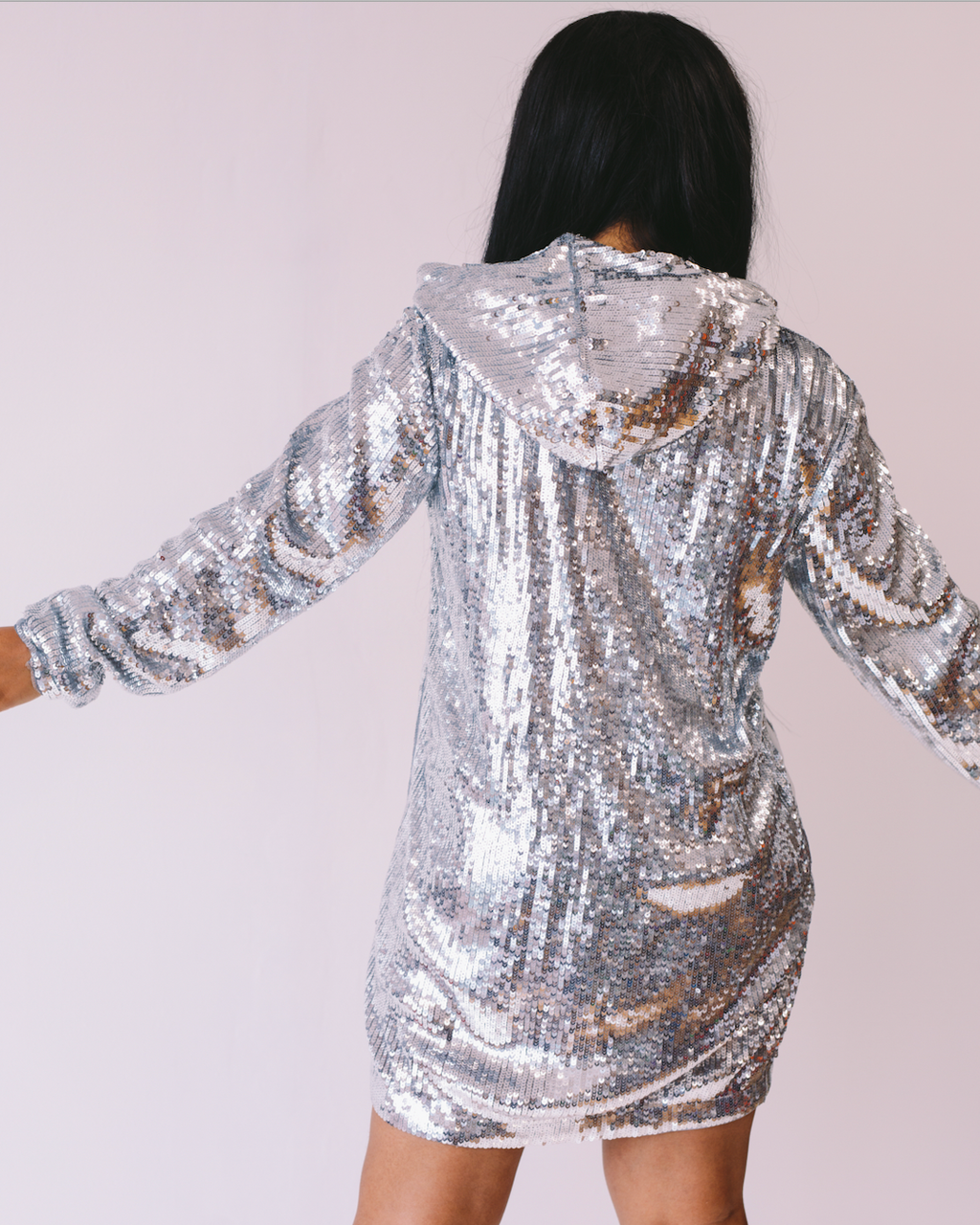 Stole The Show | Sequin Hoodie Dress ESTIMATED SHIP DATE 10/15