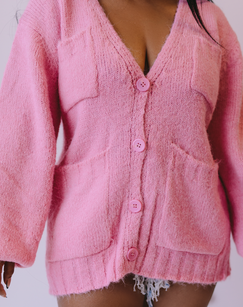 Pink Lady | Sweater Cardigan
