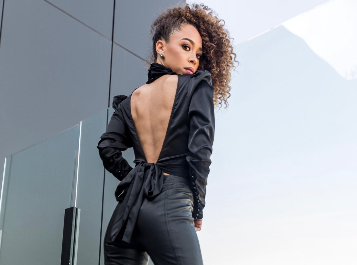 Backing It Up | Backless Turtleneck