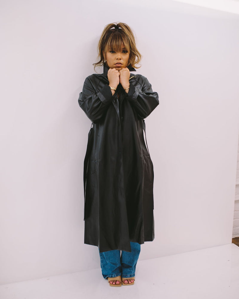 Blade Bae | Faux Leather Coat