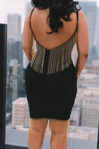 Dangling On the edge | Fringe Dress | Ships by 5/30