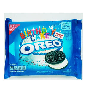 Nabisco Oreo Birthday Cake Sandwich Cookies 432g/15.25oz