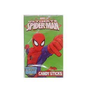 Spiderman Candy Stick with Tattoo 28g/1oz