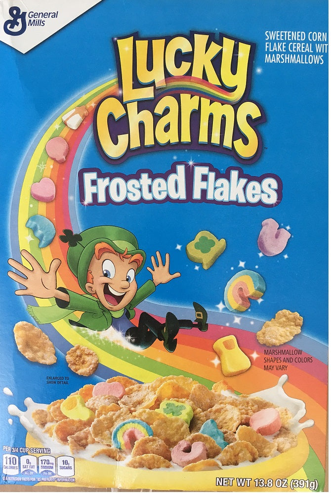 Lucky Charms Frosted Flakes Cereals 381g/13.6oz