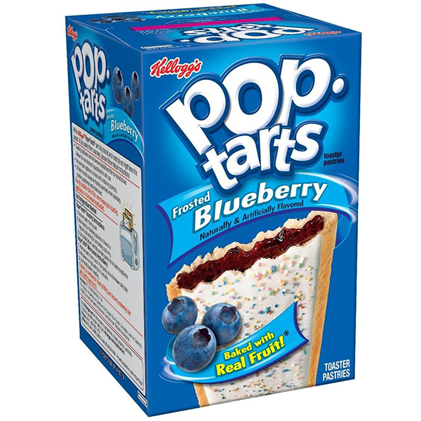 Pop Tarts Frosted Blueberry cu coacaze si glazura