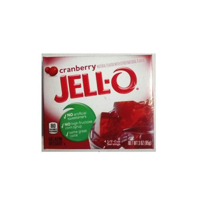 Jello Cranberry 85g/3oz