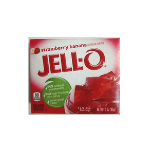 Jello Strawberry Banana 85g/3oz