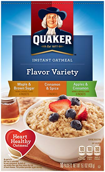 Quaker Instant Oatmeal-Variety 430g/15.1oz