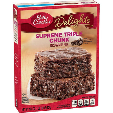 Betty Crocker Triple Chunk Brownie Mix 504g/ 17.8oz
