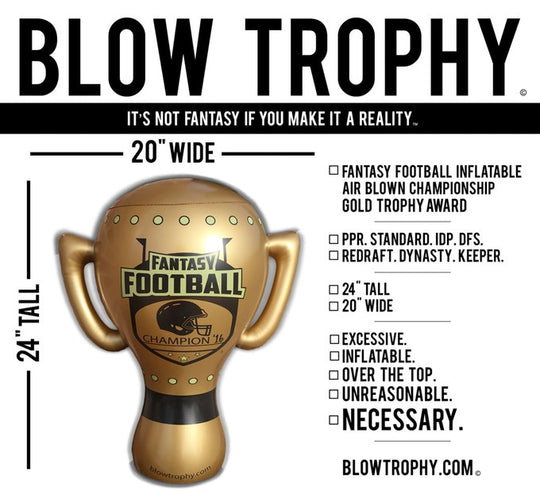 "Blow Trophy Inflatable Fantasy Football Trophy - 24"" Tall & 20"" Wide"