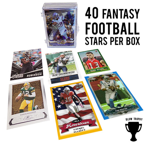 Forty 40 Fantasy Football Stars Trading Card Set