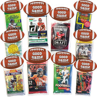 Football Party Favors 10 Pack, Card Packs, Kids Party Supplies, Creative HASSLE FREE Party Favor