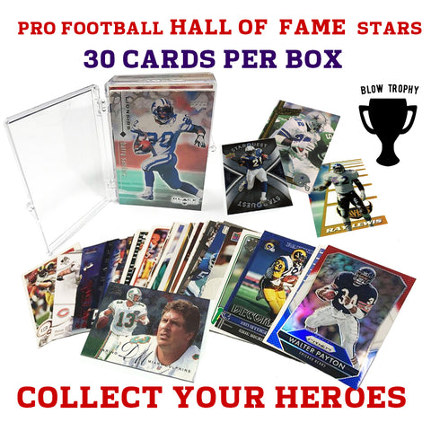 Thirty 30 Hall of Fame NFL Players Trading Card Set of All Time Greats