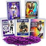 Lamar Jackson Football Card Bundle, Set of 5 Assorted Baltimore Ravens and Louisville Cardinals Mint Football Cards Gift Set of Heisman MVP Quarterback Lamar Jackson, Protected by Sleeve and Toploader