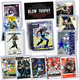 NFL Running Back Football Card Bundle, Assorted Set of 12 Mint Star RB Football Cards Gift Set, Includes one Relic, Serial, or Rookie, Protected by Sleeve and Toploader
