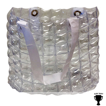 Clear Stadium Game Day Bags Inflatable Sheen Travel Case/Purse Perfect for Tailgating