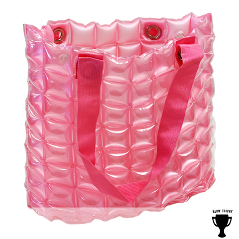 Pink Stadium Game Day Bags Inflatable Sheen Travel Case/Purse Perfect for Tailgating
