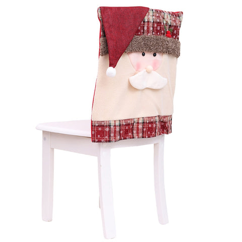 1Pc Christmas Santa/Snowman Chair Slip Cover