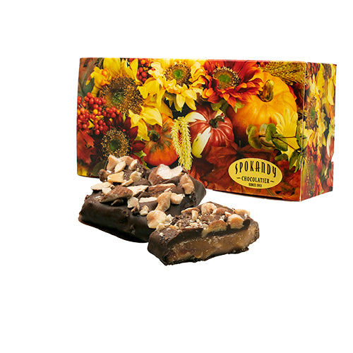English Almond Toffee, Dark Chocolate, Autumn Box