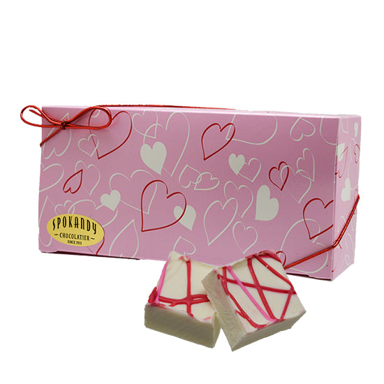 16 oz Valentine's mints in Pink gift box with hearts