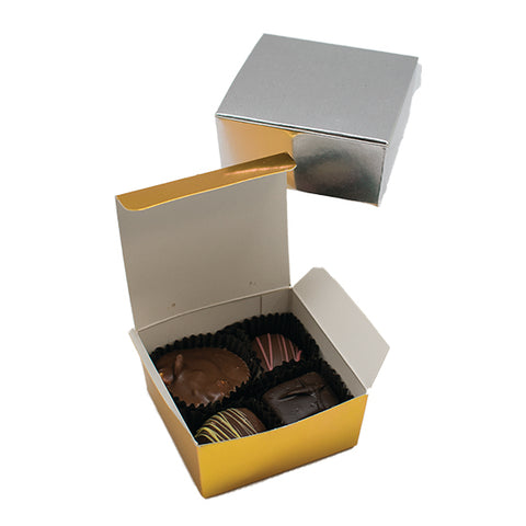 4 piece Chocolate favor box