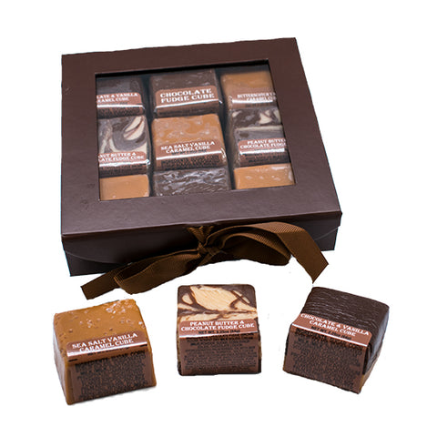 9pc Fudge and Caramel Cube Assortment