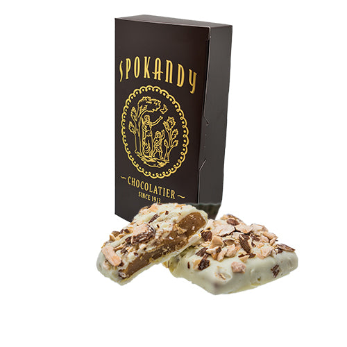 12 oz English Almond Toffee, White Chocolate