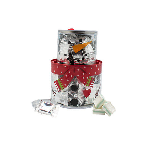 Snowman Tin w/ Individually Wrapped Mints