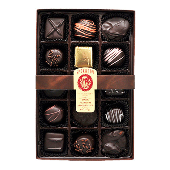15 pc Dark Chocolate Premium Assortment Gift Box