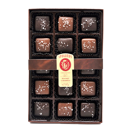 15 pc Assorted Sea Salt Caramels Gift Box