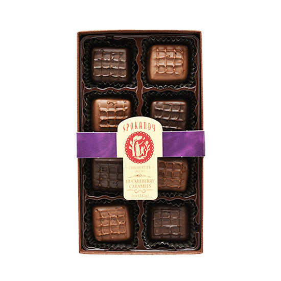 8 pc Huckleberry Caramel Gift Box