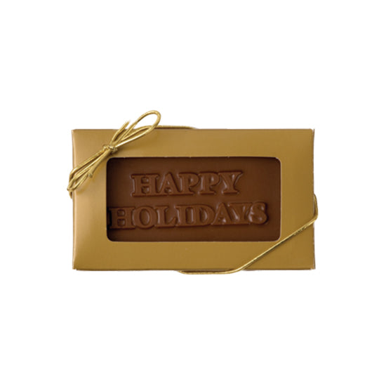Happy Holiday Business Card, Milk Chocolate